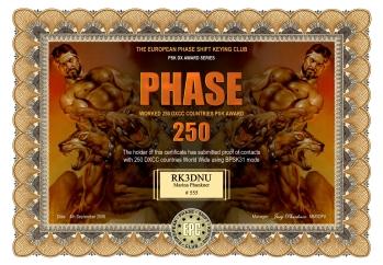 Phase 250 Award