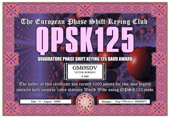 QPSK125 Award